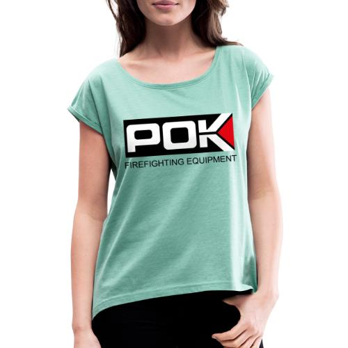 POK LOGO FIREFIGHTING EQUIPMENT - Women's T-Shirt with rolled up sleeves