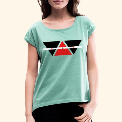 NMK MARCHIO - Maglietta da donna con risvolti