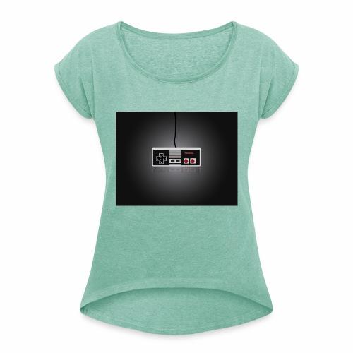 control2 - Camiseta con manga enrollada mujer