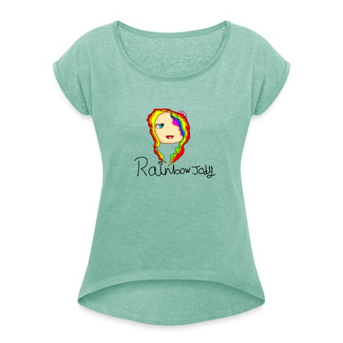 Jody merch design - Women's T-Shirt with rolled up sleeves