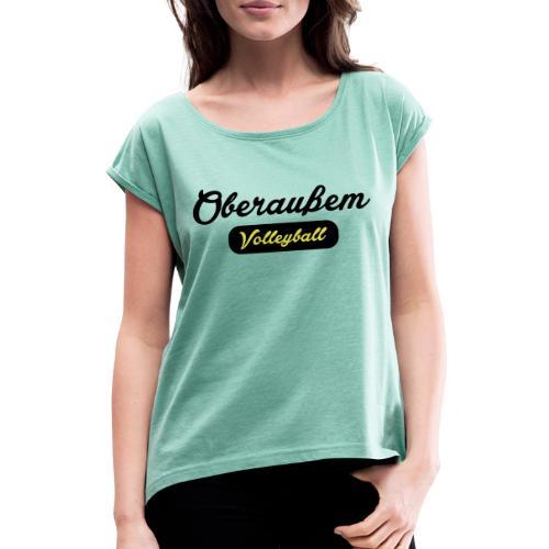 OVV College 2farbig - Frauen T-Shirt mit gerollten Ärmeln