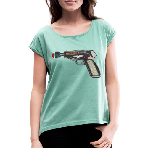 SpaceGun - Women's T-Shirt with rolled up sleeves