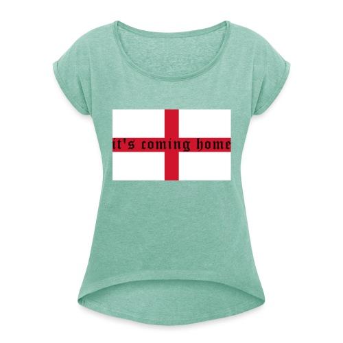 England 21.1 - Frauen T-Shirt mit gerollten Ärmeln