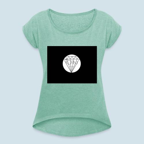 Toin clothing logo - Vrouwen T-shirt met opgerolde mouwen
