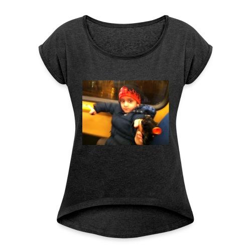 Rojbin gesbin - T-shirt med upprullade ärmar dam