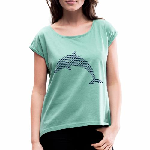 Delfin Dolphin - Camiseta con manga enrollada mujer