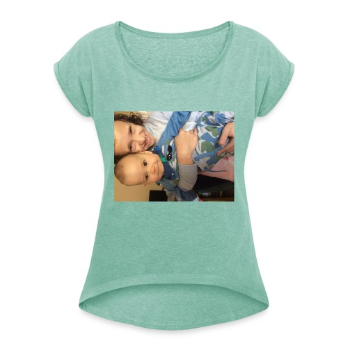 Lara and fox - Women's T-Shirt with rolled up sleeves