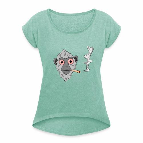 Smoking monkey - T-shirt à manches retroussées Femme