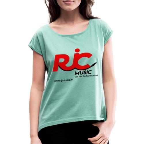 RJC Music avec site - T-shirt à manches retroussées Femme