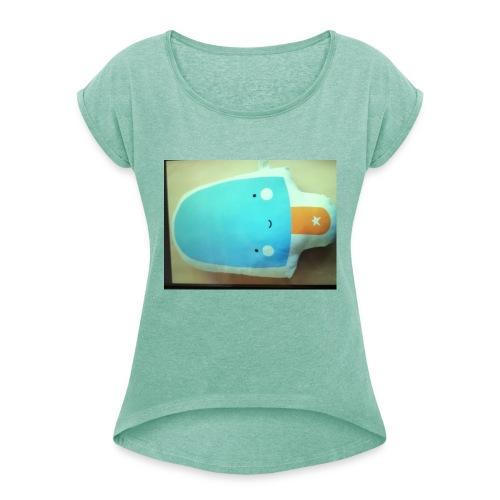 11PINGU07 - Frauen T-Shirt mit gerollten Ärmeln