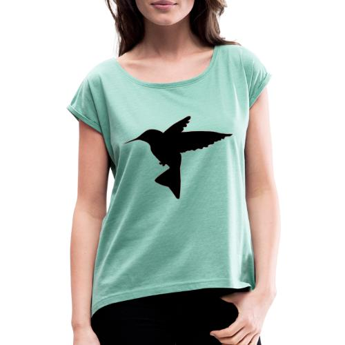 kolibrie - Vrouwen T-shirt met opgerolde mouwen