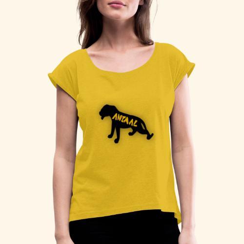 animal - T-shirt à manches retroussées Femme