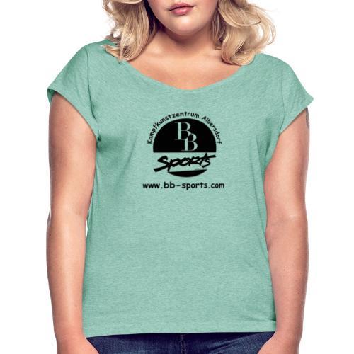 BB Sports Logo neu einfach 2 - Frauen T-Shirt mit gerollten Ärmeln