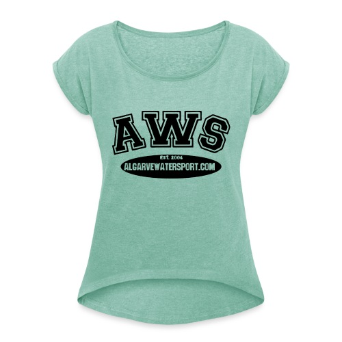 AWS Athlet - Women's T-Shirt with rolled up sleeves