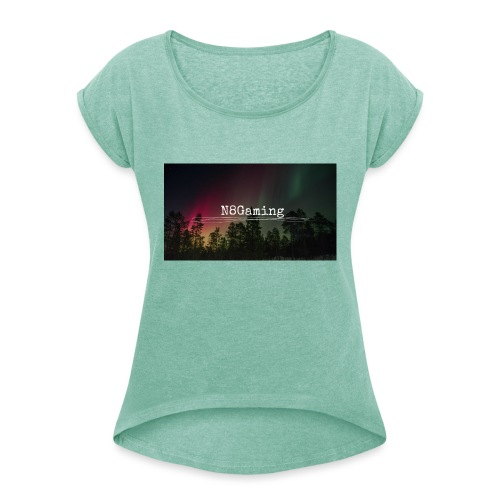 N8 Gaming Shirt - Women's T-Shirt with rolled up sleeves