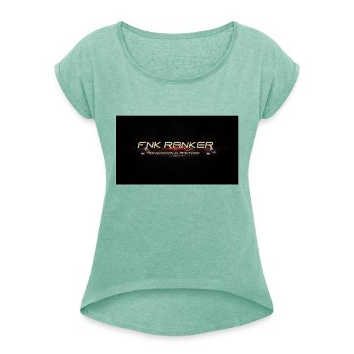 FNK_Ranker - Camiseta con manga enrollada mujer