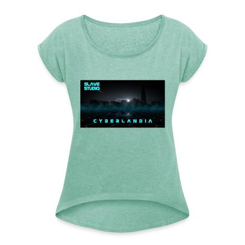 Cyberlandia - Maglietta da donna con risvolti