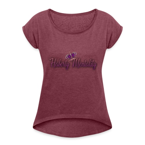 Haberty Mentality - T-shirt à manches retroussées Femme