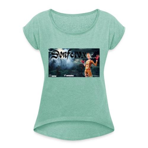shoptest - Frauen T-Shirt mit gerollten Ärmeln