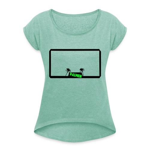 Palmen - T-shirt med upprullade ärmar dam