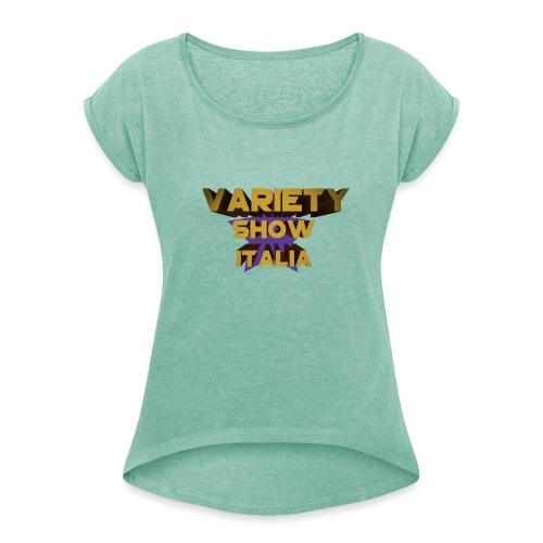 MagliaVarietyShow - Maglietta da donna con risvolti