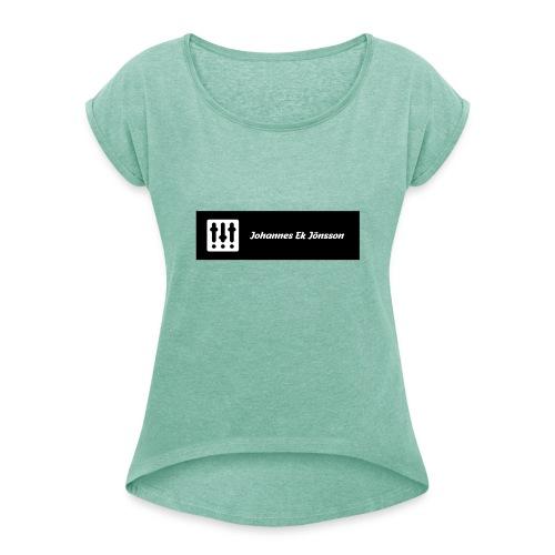 Johannes Ek Jönssons Logga 2 - T-shirt med upprullade ärmar dam