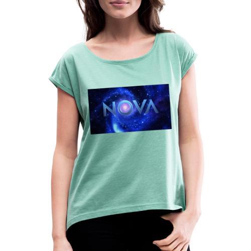 NOVA - Frauen T-Shirt mit gerollten Ärmeln