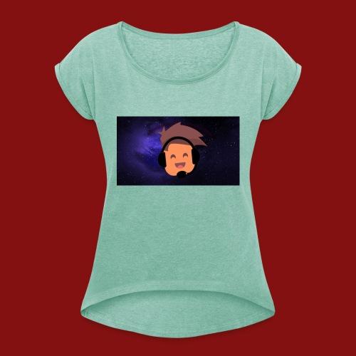 ProfilBild RymdBakgrund - T-shirt med upprullade ärmar dam