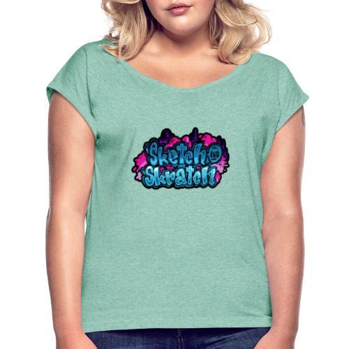 Sketch & Skratch logo hoodie - Dame T-shirt med rulleærmer