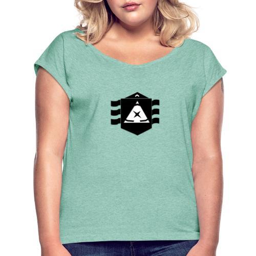 df - Frauen T-Shirt mit gerollten Ärmeln