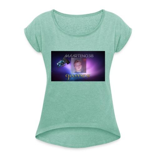 maarten038 kleding - Vrouwen T-shirt met opgerolde mouwen