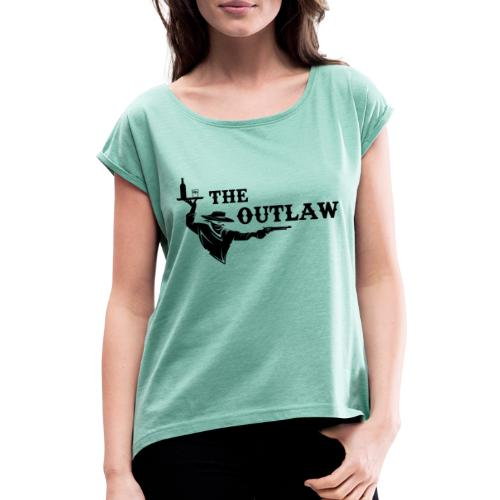 outlaw saloon - T-shirt à manches retroussées Femme