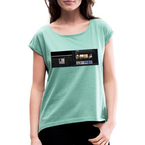 Capture001 - Dame T-shirt med rulleærmer