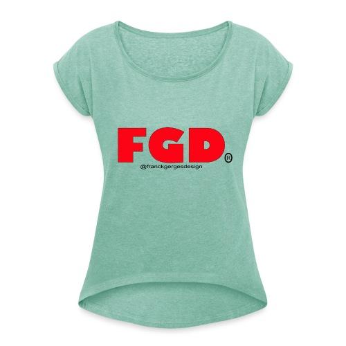 FGD - T-shirt à manches retroussées Femme