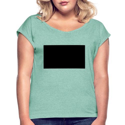 x - Frauen T-Shirt mit gerollten Ärmeln