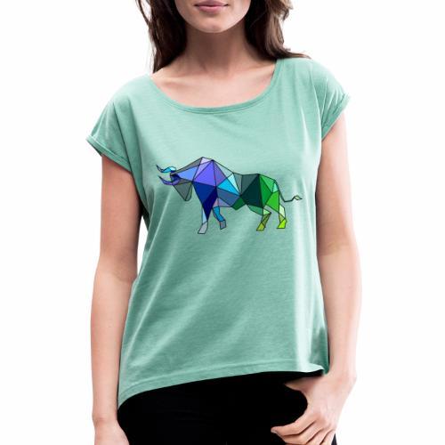 Toro Color - Camiseta con manga enrollada mujer