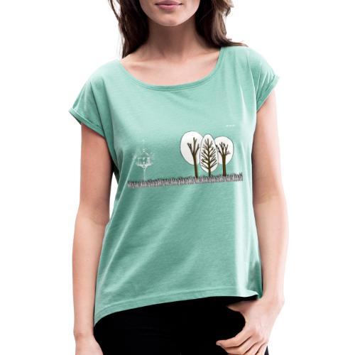 Bird - Frauen T-Shirt mit gerollten Ärmeln