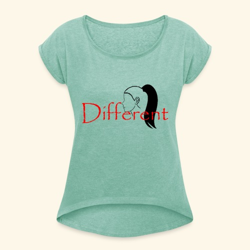 Different Look - Women's T-Shirt with rolled up sleeves