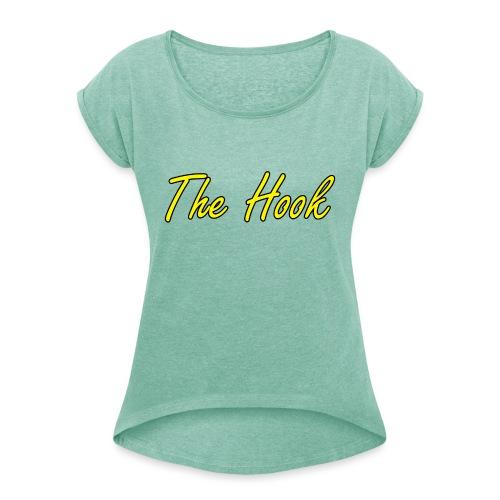 The Hook Logo - T-shirt med upprullade ärmar dam