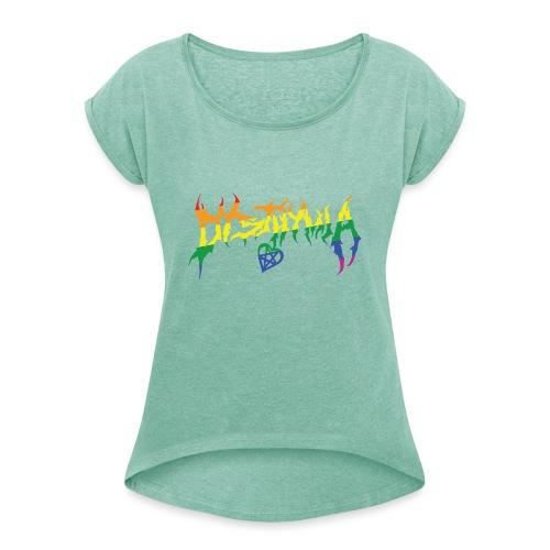 dysthymia pride - T-shirt med upprullade ärmar dam