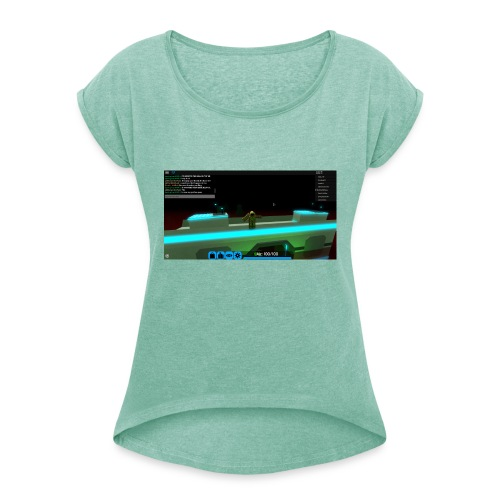 RobloxScreenShot20180804 124355106 - Women's T-Shirt with rolled up sleeves
