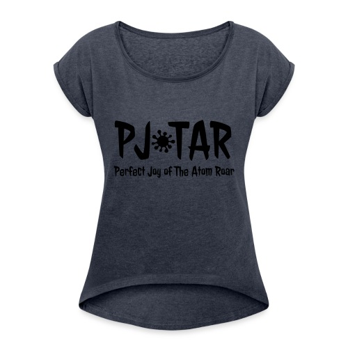 PJoTAR - Women's T-Shirt with rolled up sleeves