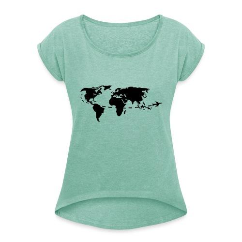 My world - T-shirt à manches retroussées Femme