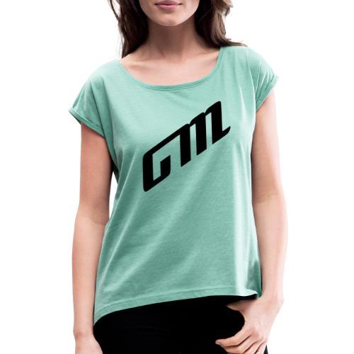 GM - Camiseta con manga enrollada mujer