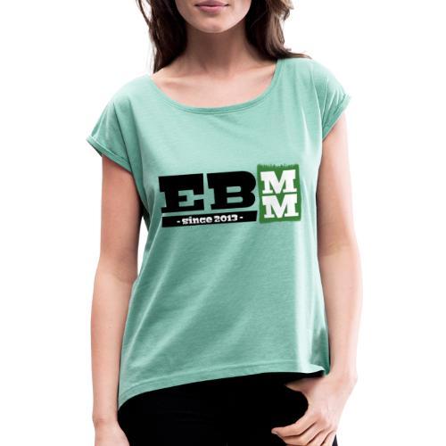 EUMM - Frauen T-Shirt mit gerollten Ärmeln