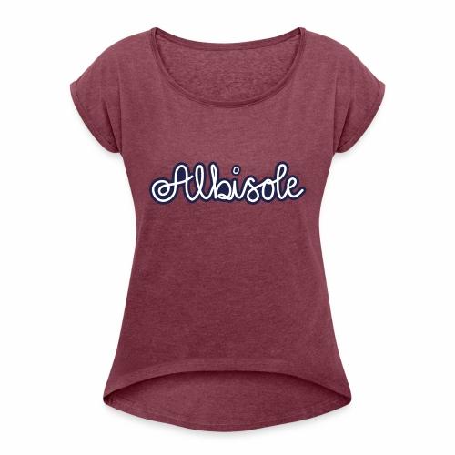 albisole - Frauen T-Shirt mit gerollten Ärmeln
