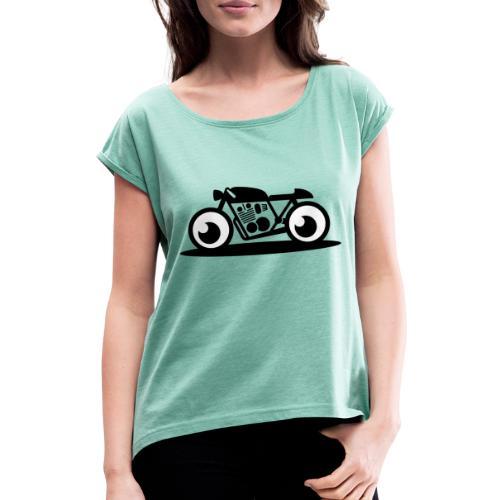 259 2594755 triumph thruxton bike source bullet bi - Frauen T-Shirt mit gerollten Ärmeln