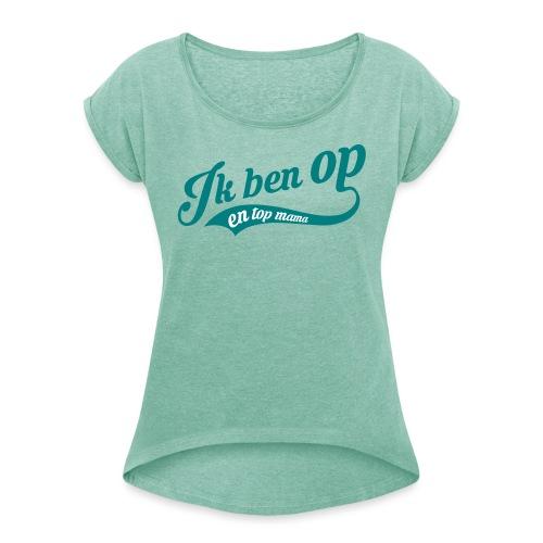 top mama - T-shirt à manches retroussées Femme