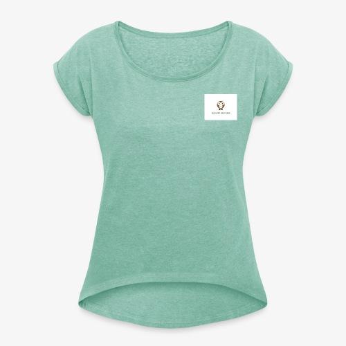 Monkey - T-skjorte med rulleermer for kvinner