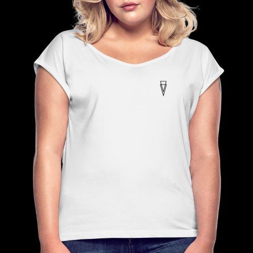 V I R G I L I I - Camiseta con manga enrollada mujer